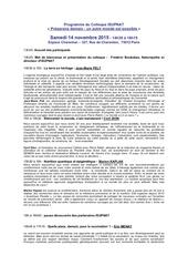programme inscription colloque isupnat 2015