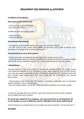 r glement des sessions by keycrew