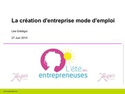 asyjeli la creation d entreprise mode d emploi
