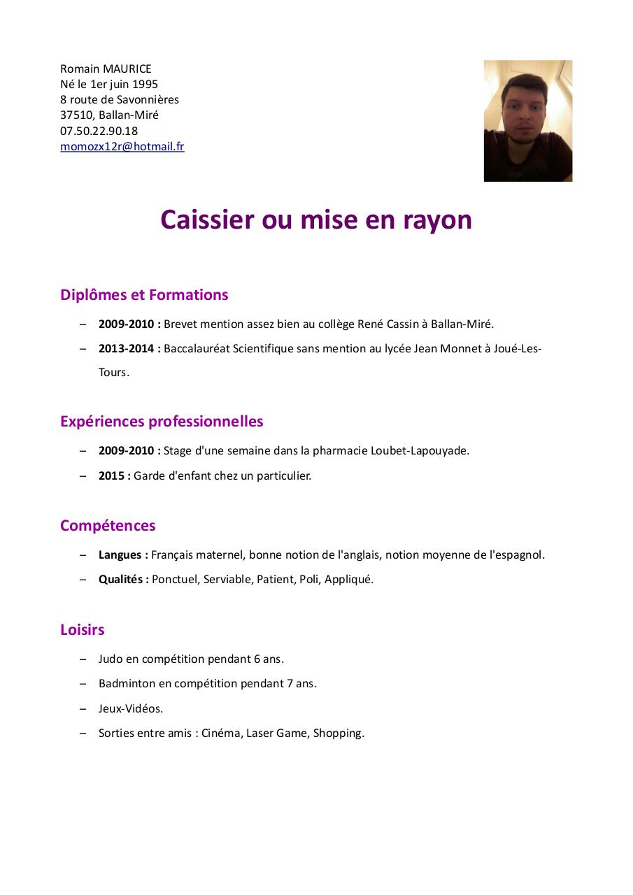 cv simply modifi u00e9 pdf par romain maurice