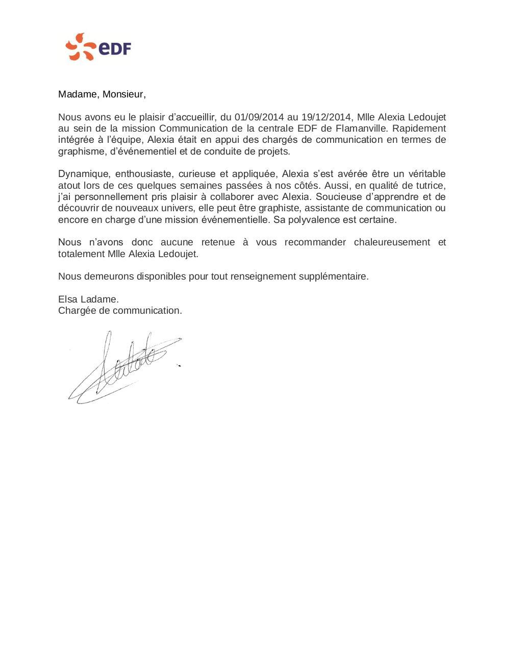 LETTRE DE RECOMMANDATION EDF Elsa Ladame par G04372   Fichier PDF
