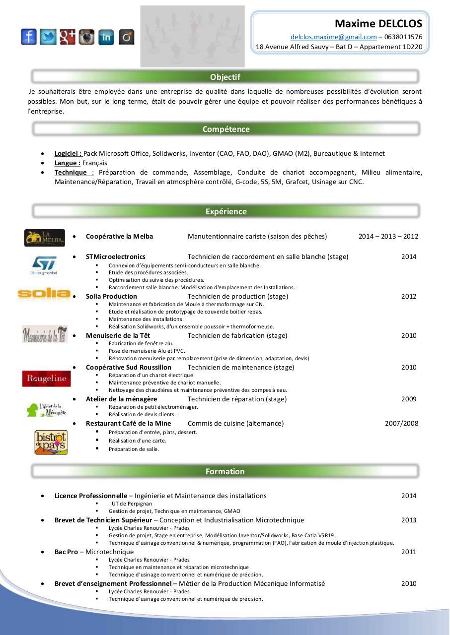 maxime delclos - cv  pdf par maxime delclos