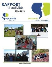 rapport d activites 2014 2015