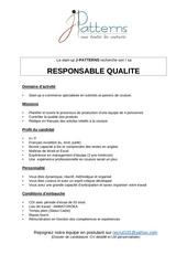 responsable qualite