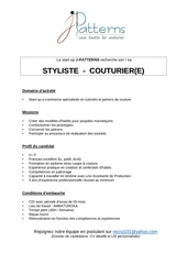 styliste couturier