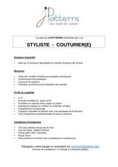 Fichier PDF styliste couturier