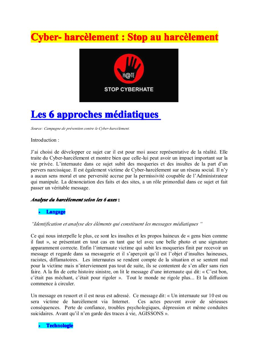 Aperçu du document Cyber humiliations.pdf - page 1/3