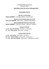 Fichier PDF palmares photo
