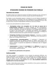 Fichier PDF fiche de poste charge de mission culturelle
