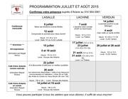 programmation juillet et ao t 2015