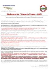 reglement de l etang du voidon