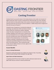 casting frontier