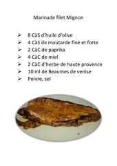 marinade filet mignon
