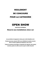 Fichier PDF reglement concours show car