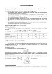 revision cinetique chimique