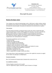 descriptif poste business developer