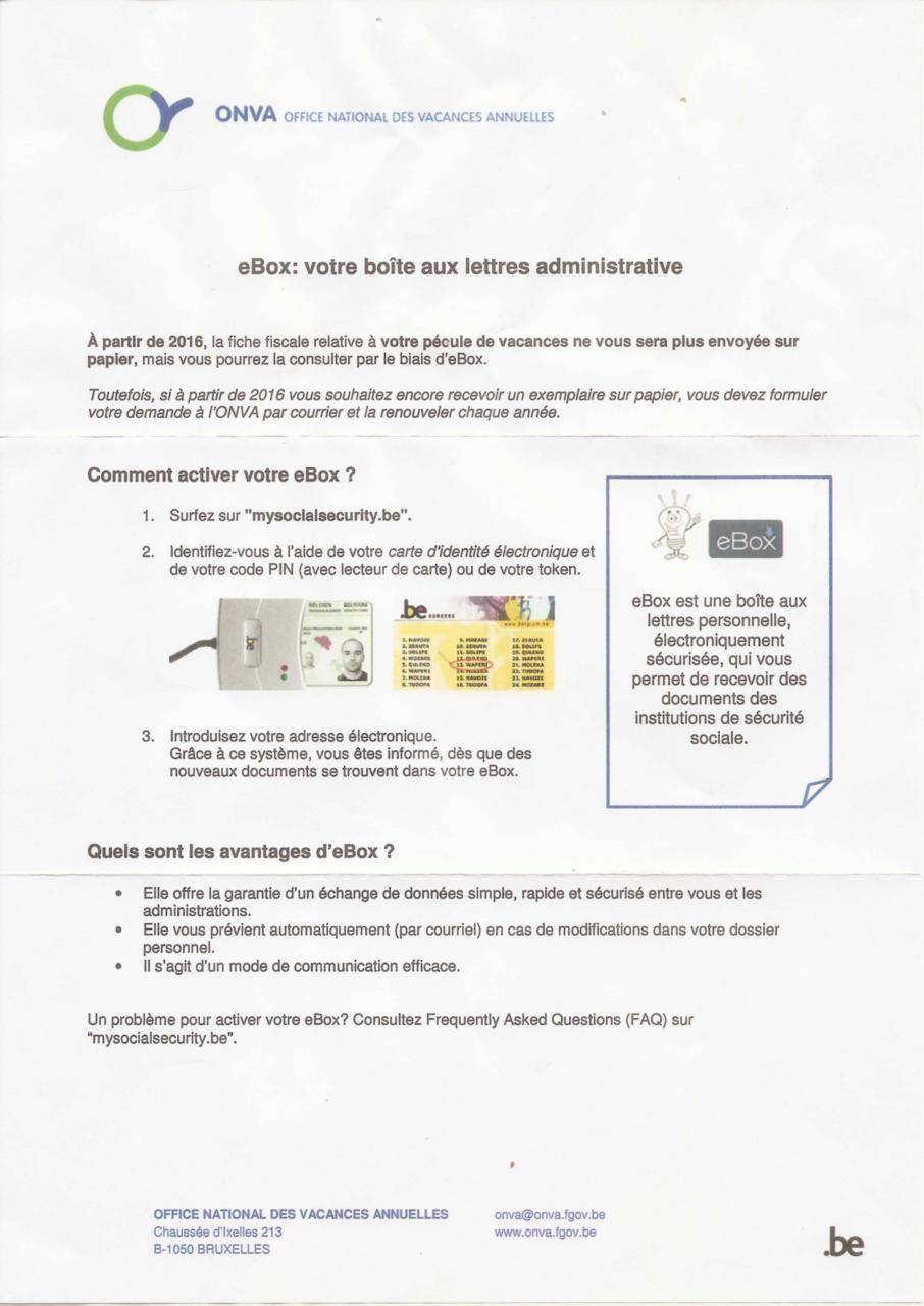 Ebox Votre Boîte Aux Lettres Administrative 1 Fichier Pdf