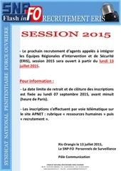 info recrutement eris 2015