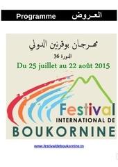 programme du fib 2015 au 13 juil