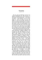 tyrannie pdf