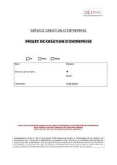 dossier modele projet creation entreprise