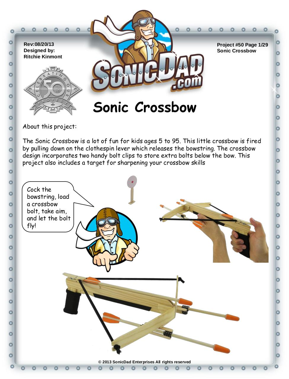 Sonic Mini Crossbow Pdf Instructions