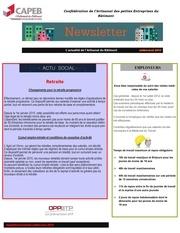 newletter juillet aout