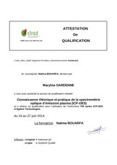 qualification icp oes marylise dardenne 2014