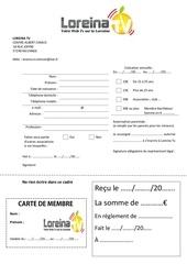 fiche inscription association