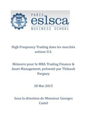 high frequency trading dans les marches actions u s
