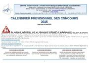 calendrier previsionnel concours