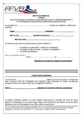 Fichier PDF fiche medicale a