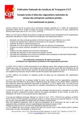 2015 07 20 cmp sanitaire compte rendu cgt cmp du 16 juillet et bilan des negociations