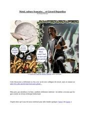 metal culture francaise et depardieu