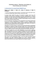 quatrieme seance restitution des ateliers et cinq minutes pour convaincre le deroulement du projet biosoil rmqs france