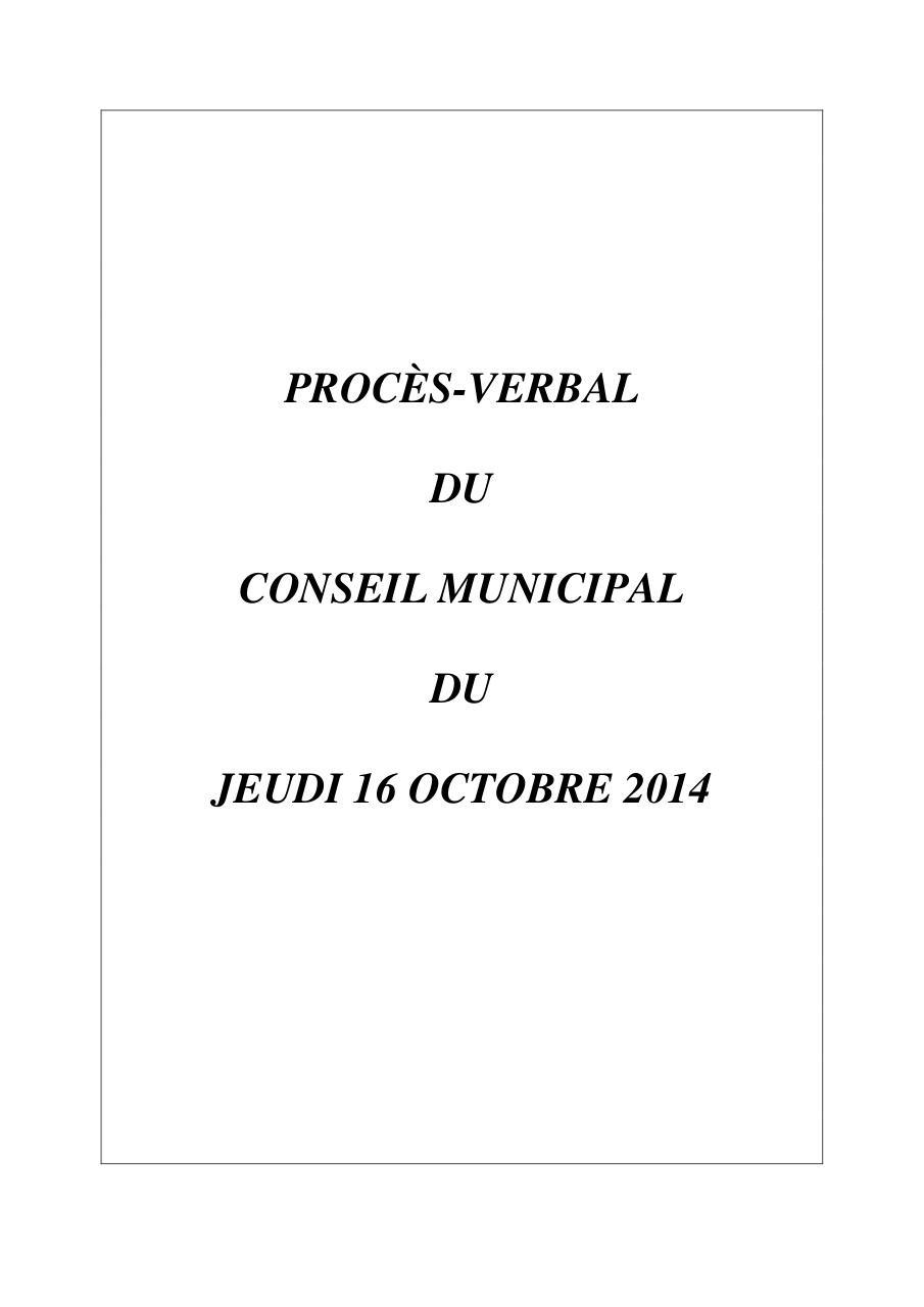 Pv 16 Octobre 2014 Par Mneffati Proces Verbal Cm 16102014