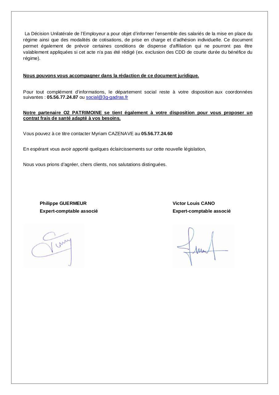 Note Client Mutuelle Obligatoire Note Info Mutuelle Obligatoire