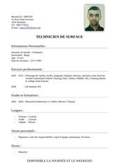 Fichier PDF cv mous