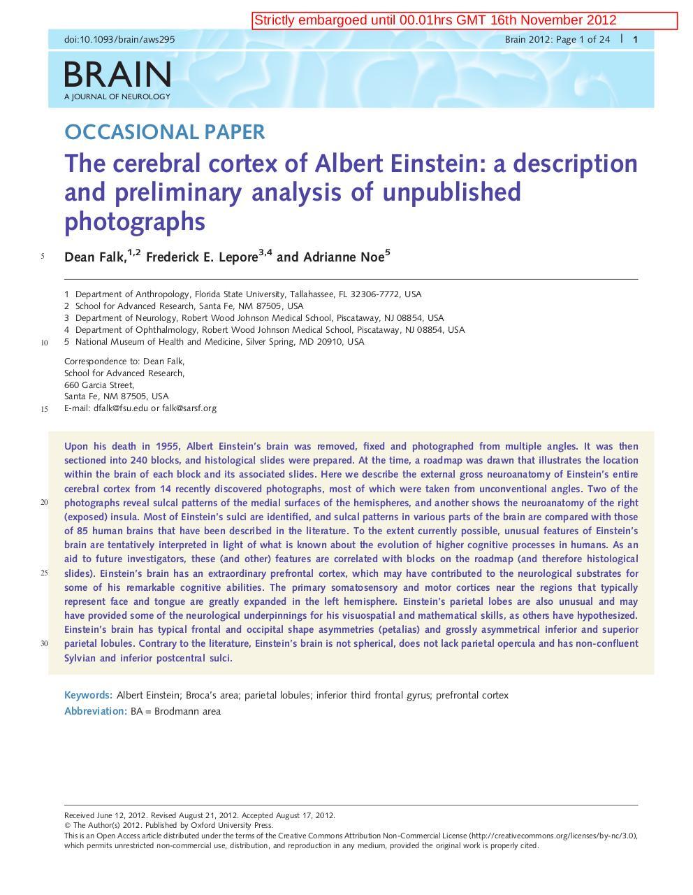 Op Brai120212 1 24 Le Cerveau D Einstein Pdf Fichier Pdf