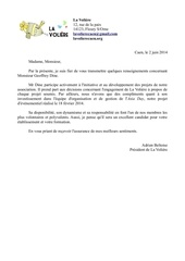 lettre de recommandation la voliere