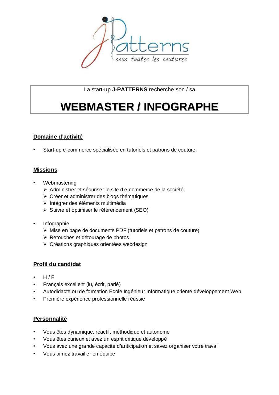 webmaster  u0026 infographe par user