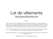 Fichier PDF vente vetements