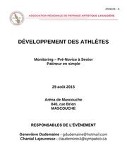 annexe a dEveloppement des patineurs monitoring 2015