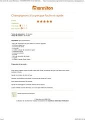 Fichier PDF champignons la grecque facile et rapide