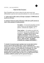 depot debilan de l europe