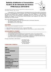 Fichier PDF formulaire adhesion 2015 2016