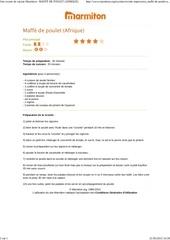 Fichier PDF maffe de poulet afrique