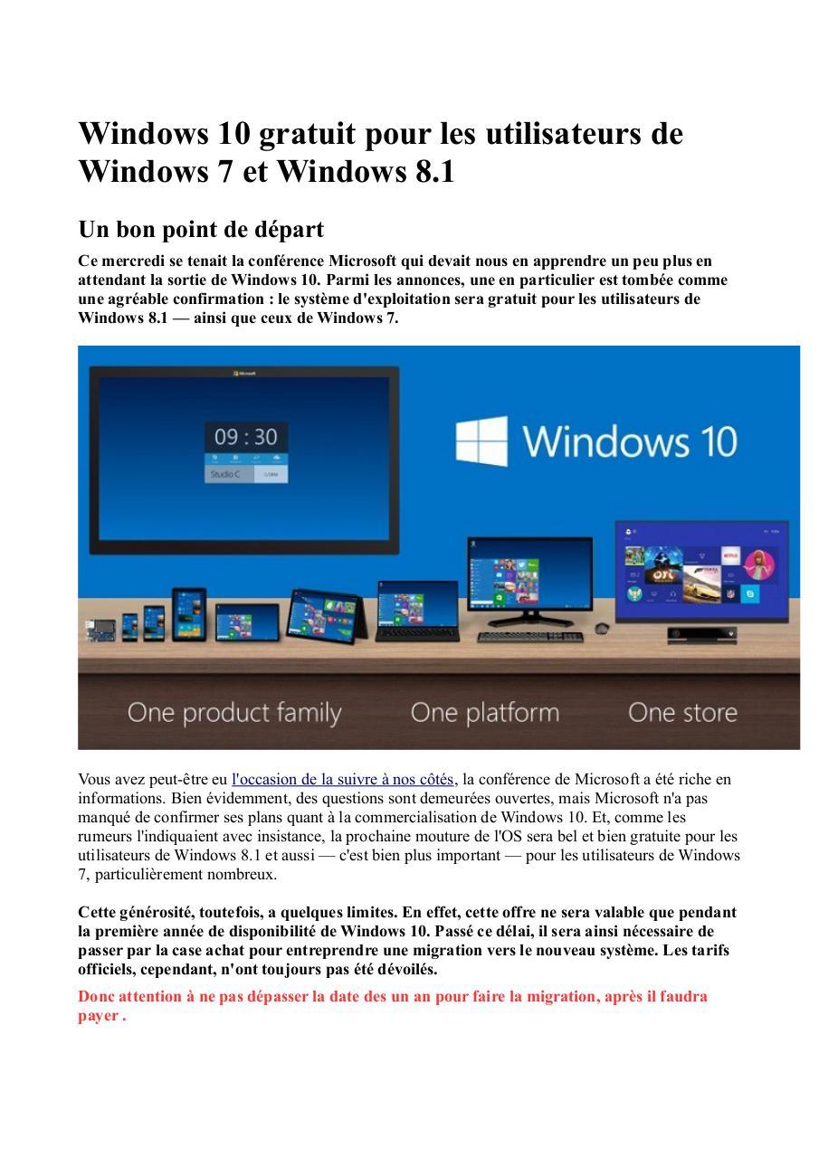 <b>Mise</b> <b>à</b> <b>jour</b> <b>gratuite</b> de <b>Windows</b> 7 <b>à</b> <b>8</b>.<b>1</b>, mais pas sans…