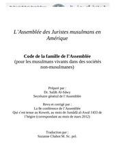 Fichier PDF amja code de la famille