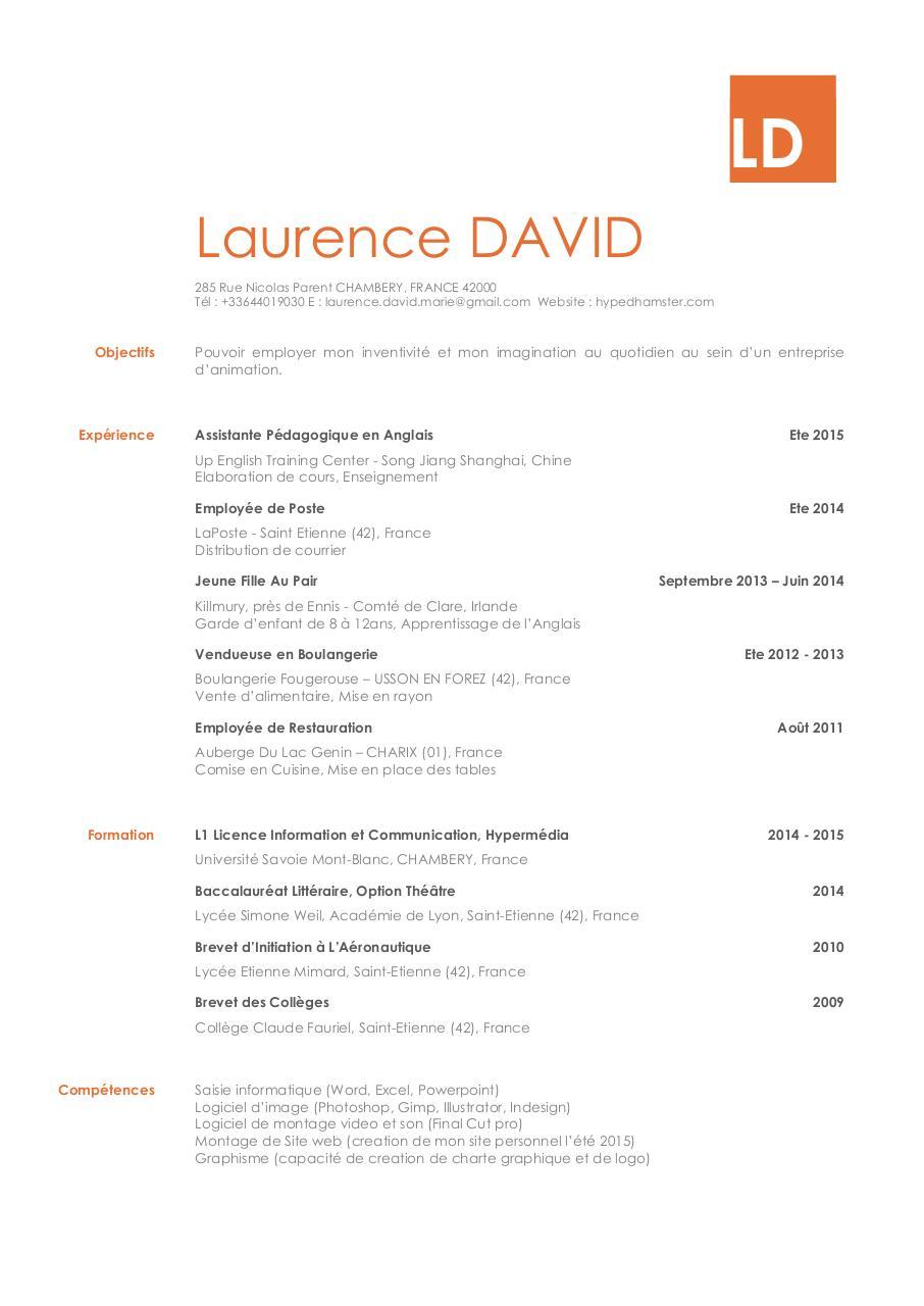 cv docx - cv david laurence pdf